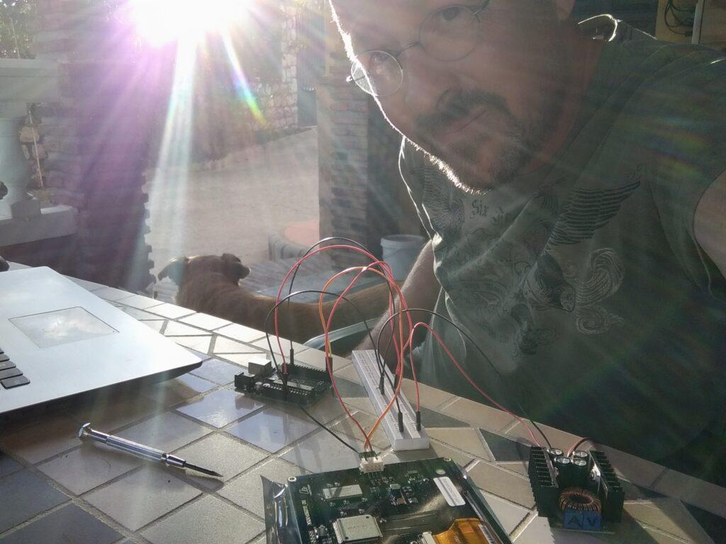 Elektronik an der Sonne